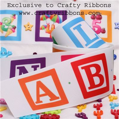 Alphabet Ribbon - 62mm